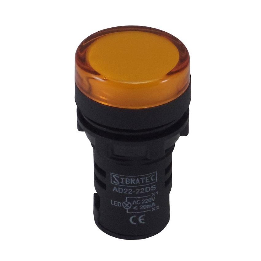 Sinalizador Led 22mm 127/220v Amarelo