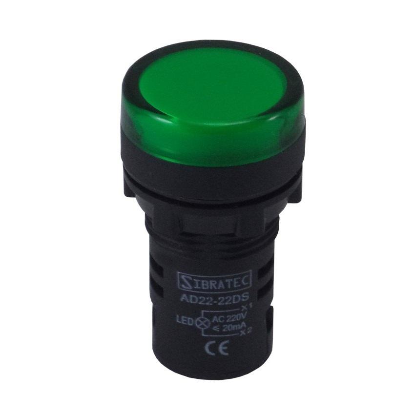 Sinalizador Led 22mm 127/220v Verde   - A ELETRICA ONLINE