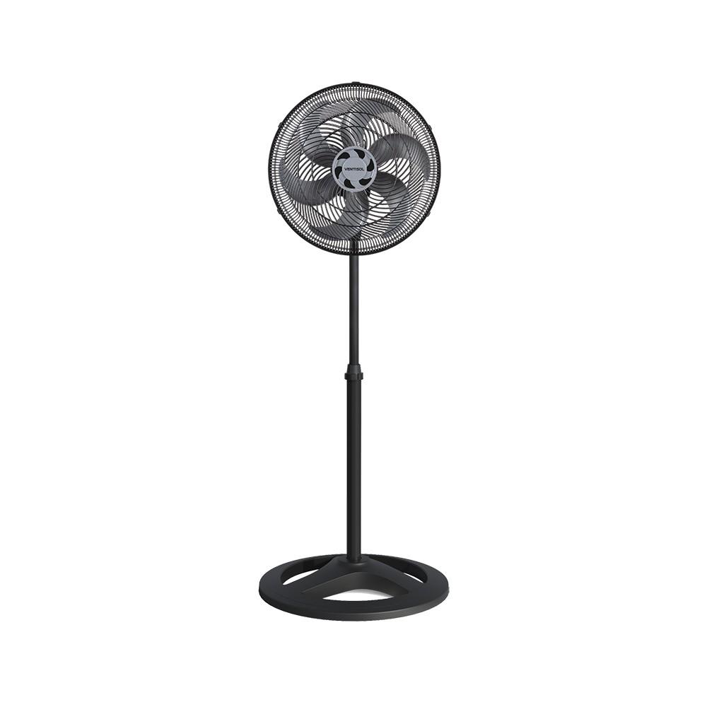 Ventilador Osc Coluna Turbo 6p 40cm Preto 220v Premium