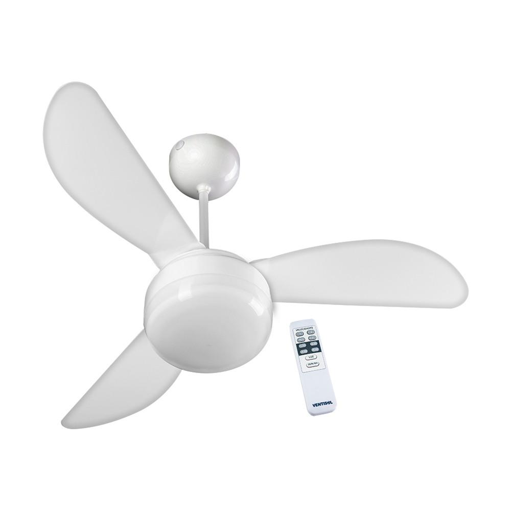 Ventilador Teto Fenix Br 3p Inj Bran Controle Remoto 220v