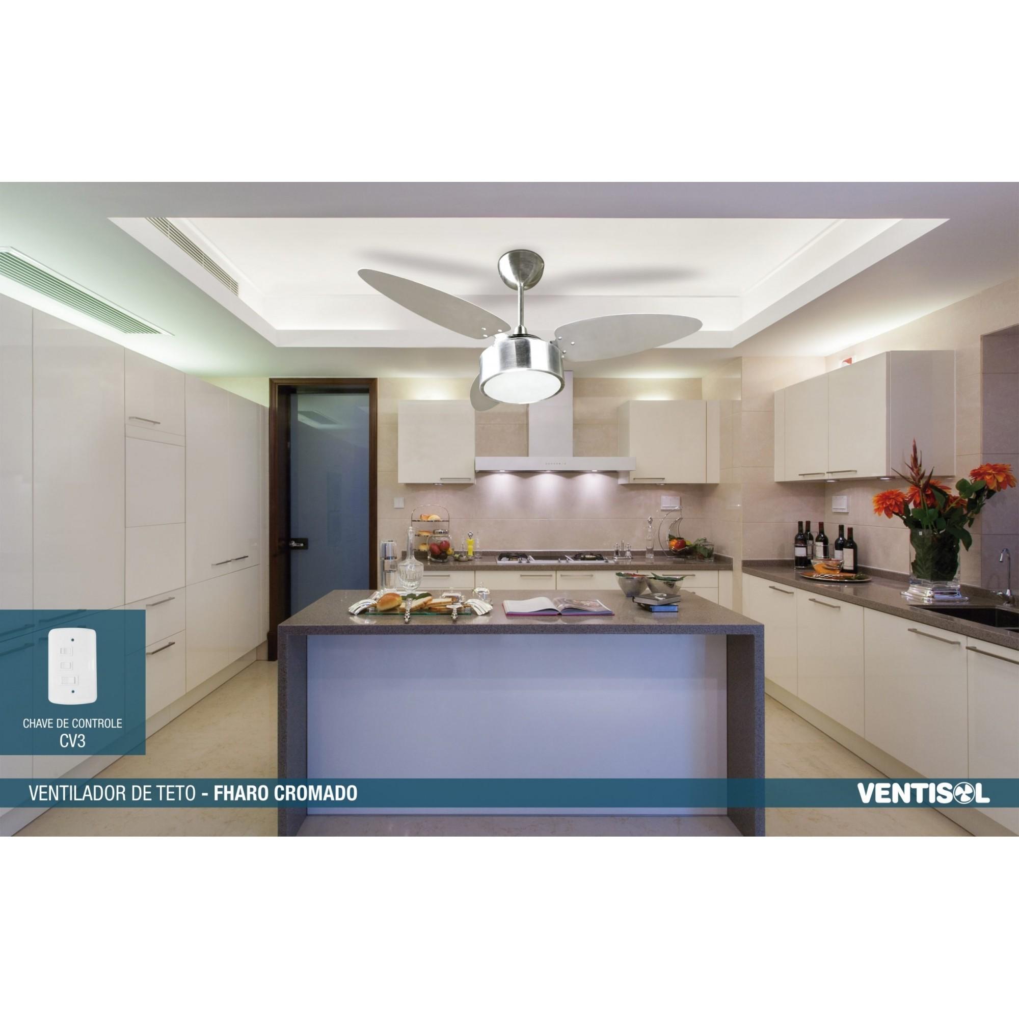 Ventilador Teto Fharo Alum Esc 3p Dupla Face 220v Premium   - A ELETRICA ONLINE