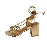Sandália Dourada Amarração
