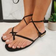 Sandália Minimalista Preta