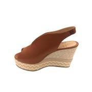 Sandália Salto Palha Caramelo