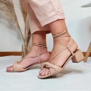 Sandália Torção Soft com Amarração Bege