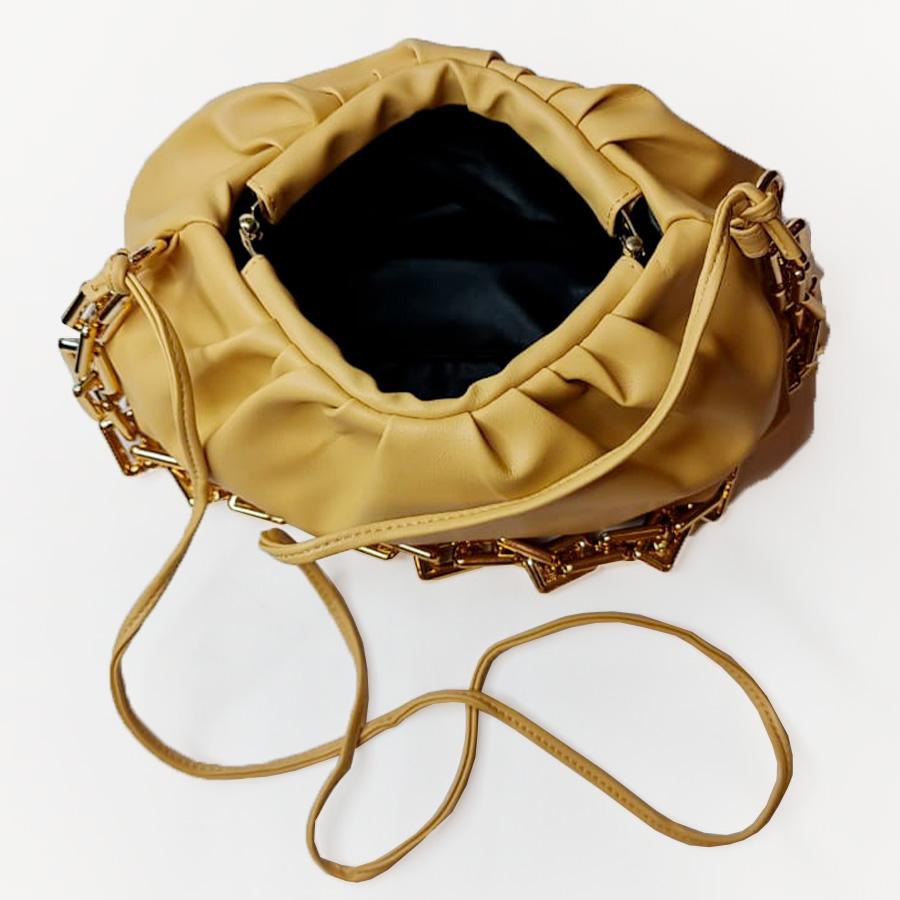Bolsa Bottega Inspired Amarela