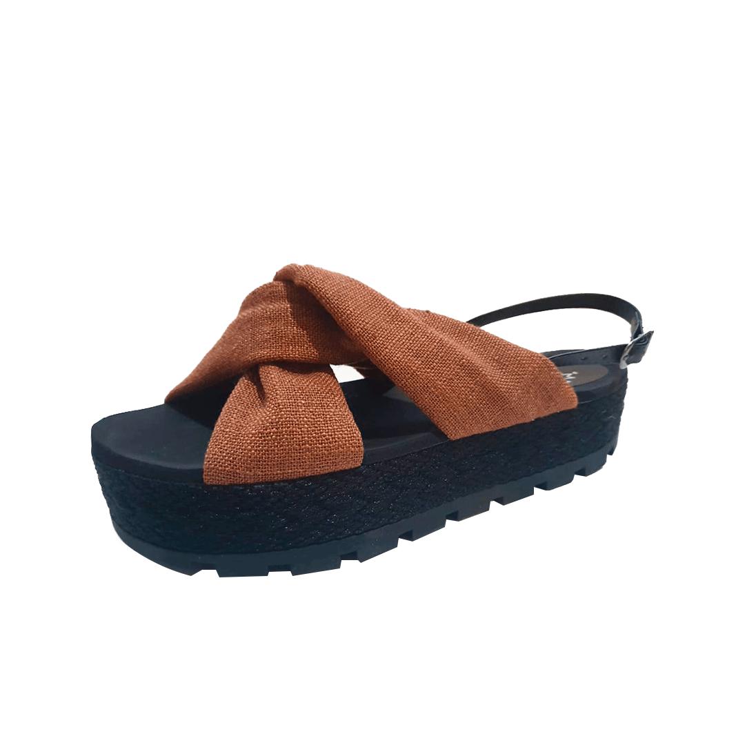 Flatform Torção Caramelo