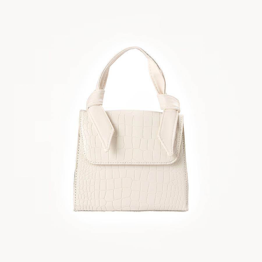 Mini Bag Croco Branca