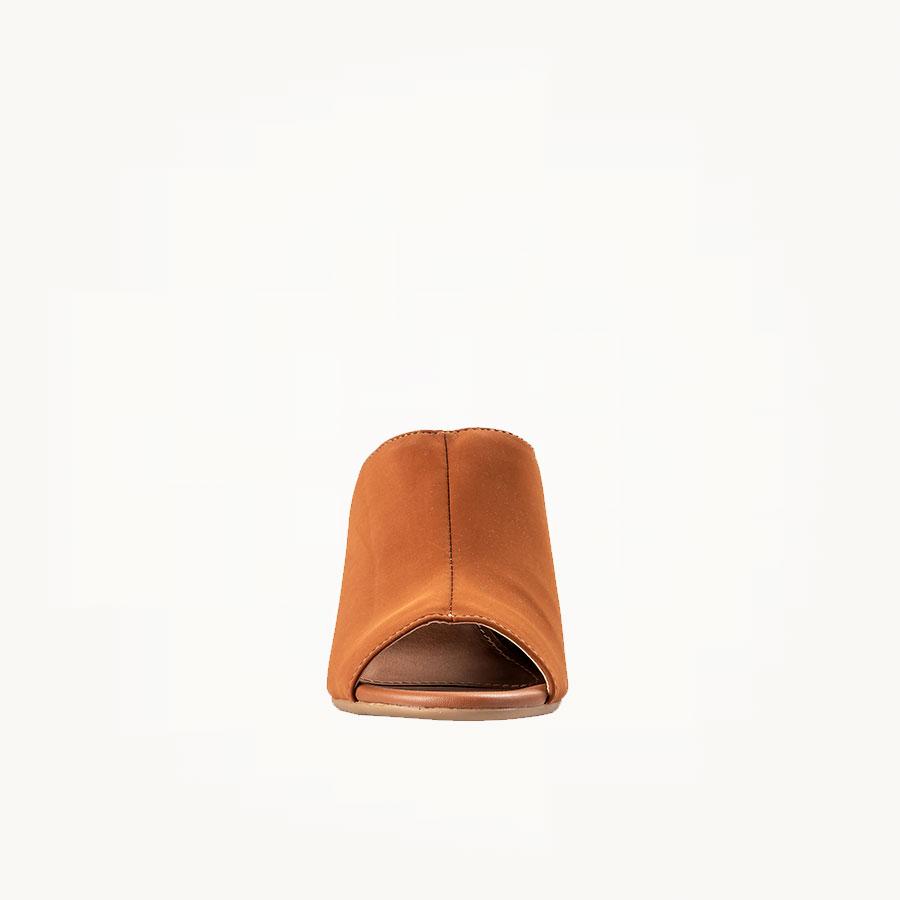 Mule Nobuck Salto Alto Caramelo