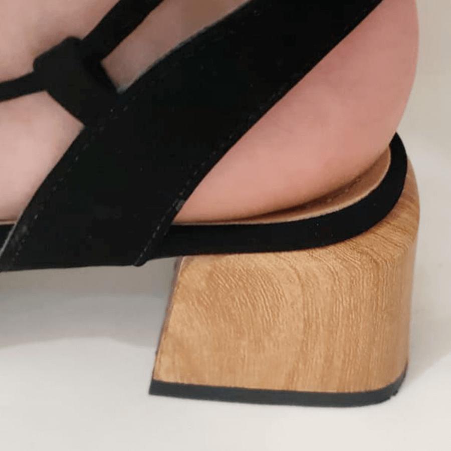 Sandália Amarração Preta
