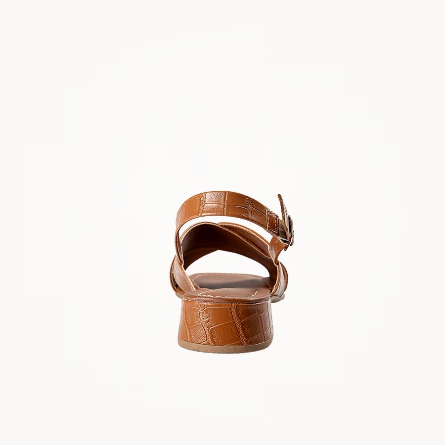 Sandália Croco Cruzada Caramelo