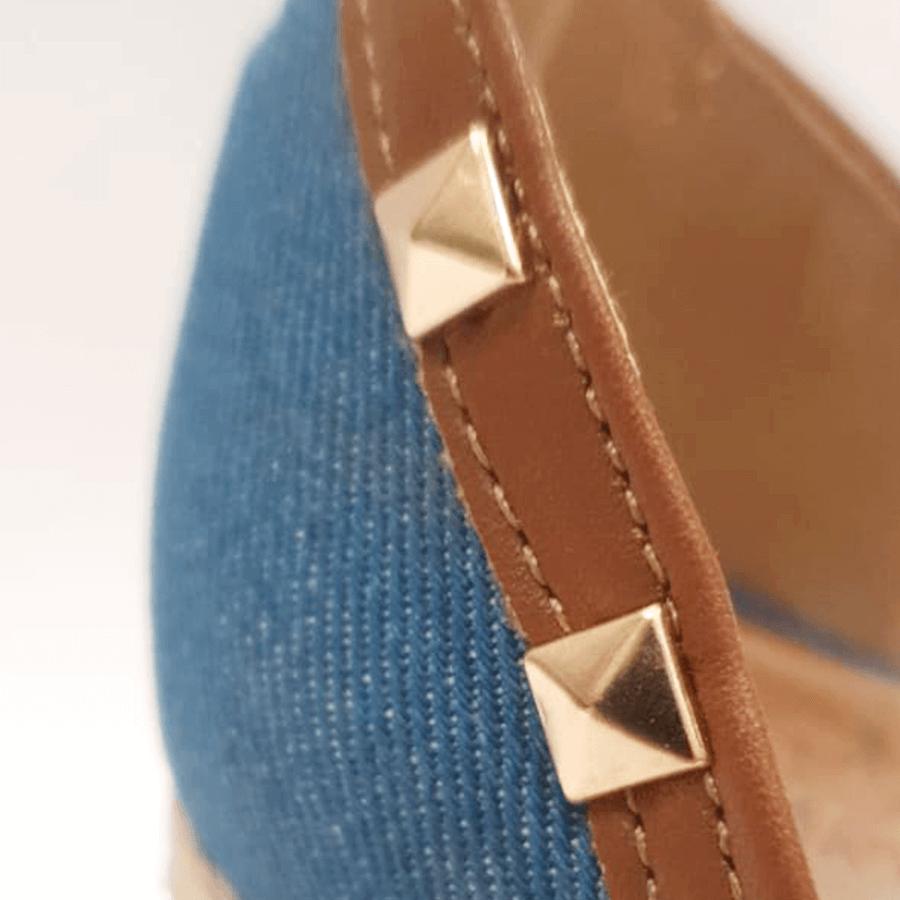 Sandália Jeans com Spikes