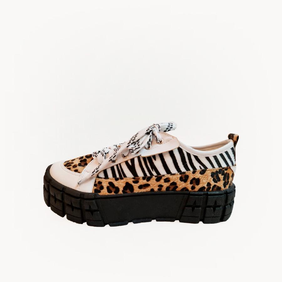 Tênis Mix Zebra e Onça