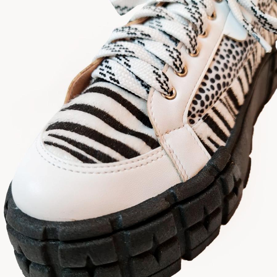 Tênis Mix Zebra e Poá