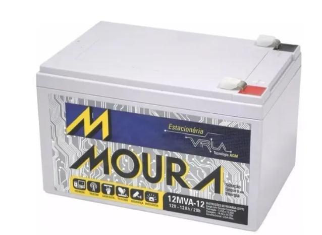 Bateria Moura 12v 12ah Vrla Estacionária