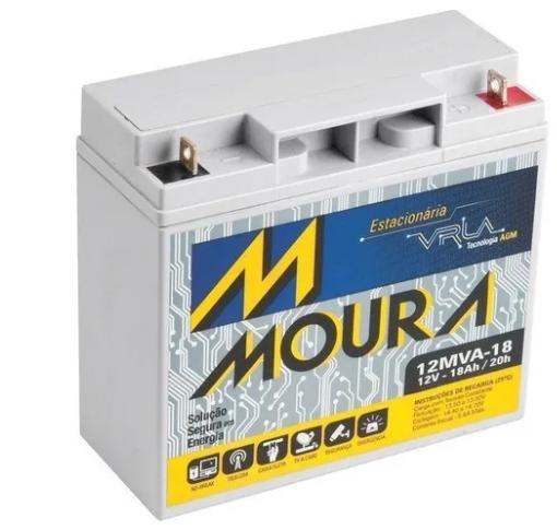 Bateria Nobreak 18ah Moura VRLA 12mva-18