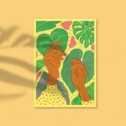 print tropical amarelo