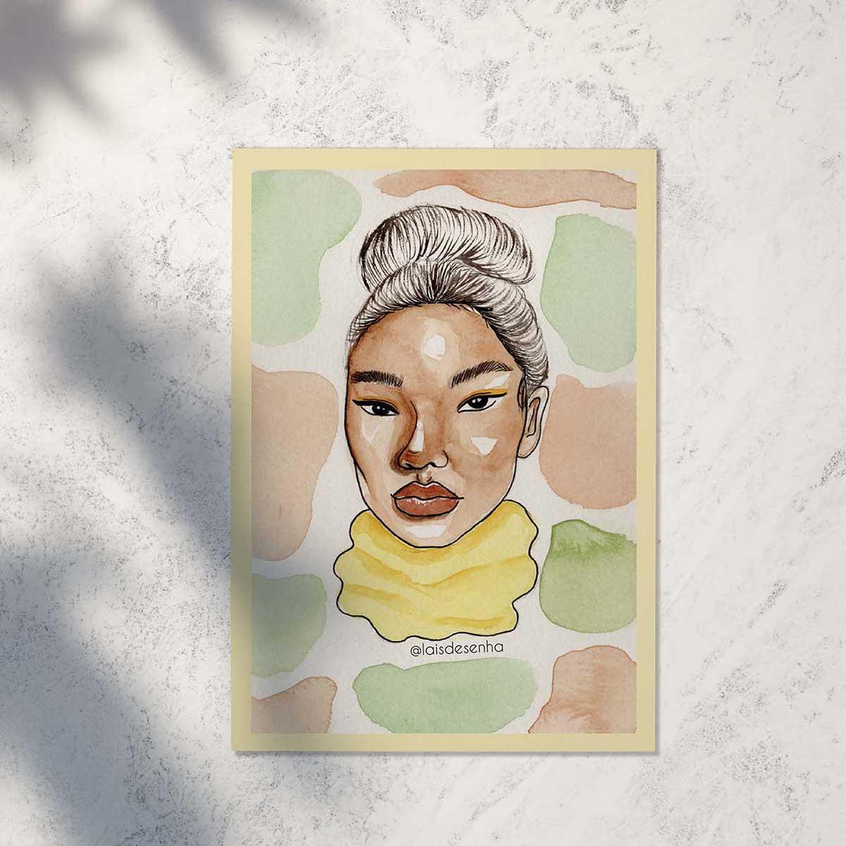 print cerejeira amarelinha