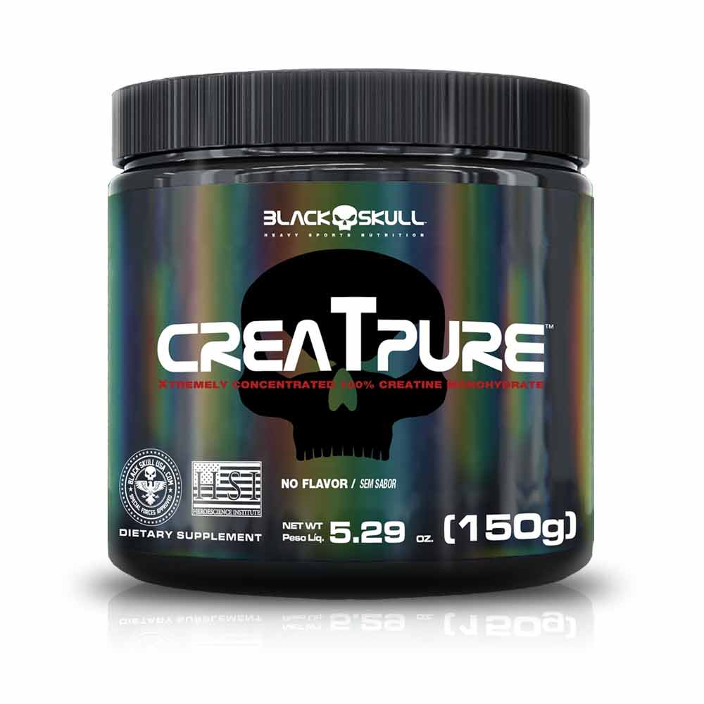 Creatpure 150G Creatina Creapure - Black Skull
