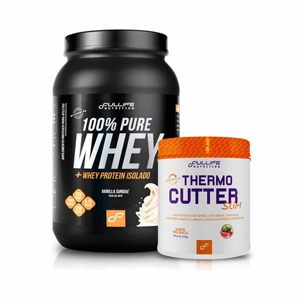 Kit 100% Pure Whey 900G + Thermo Cutter Slim 210G - Fullife
