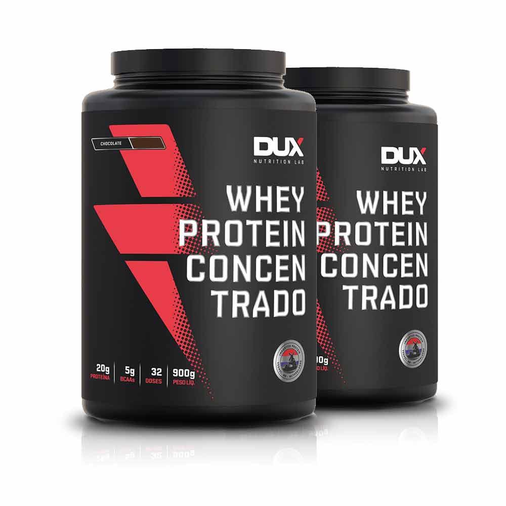 Kit 2un Whey Protein Concentrado 900G - Dux