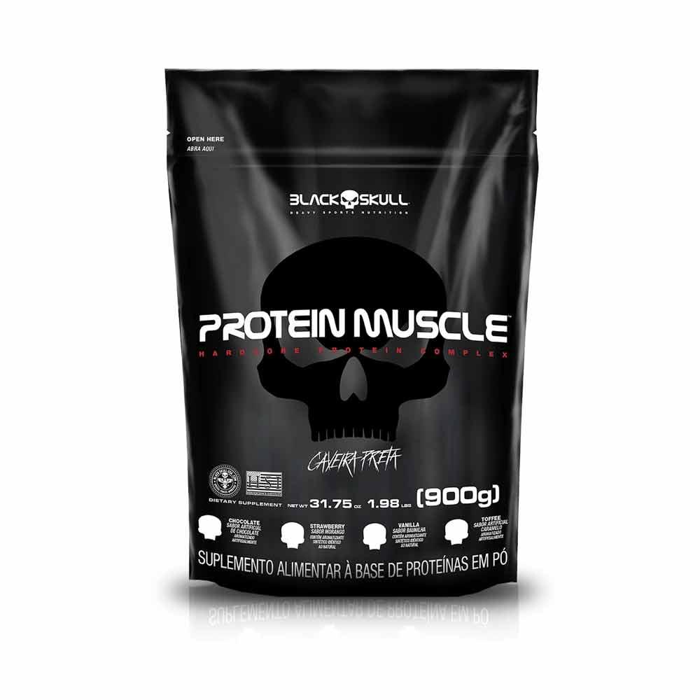 Protein Muscle Refil 900G - Black Skull