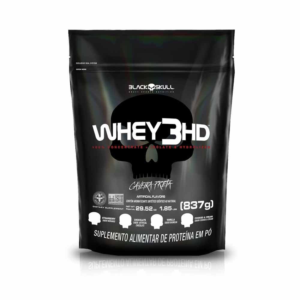 Whey 3HD 837G Refil - Black Skull