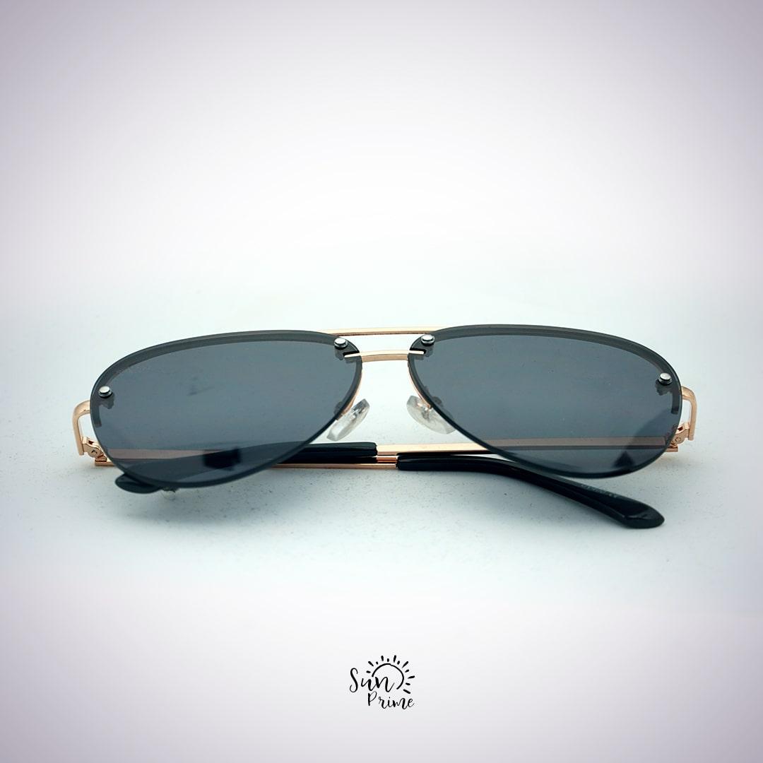 Óculos Sun prime  Dourado e Preto
