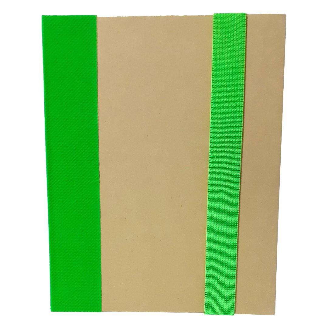 Bloco de Anotações com Capa Dura e Caneta - Verde