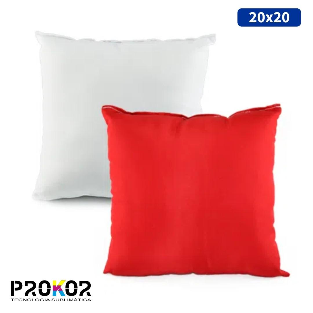Almofada Para Sublimação 20x20 - Vermelha