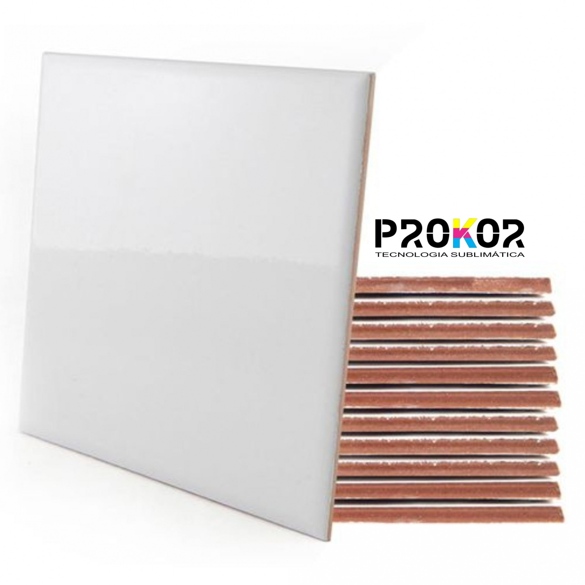 Azulejo Para Sublimação - 20x20cm - Prokor