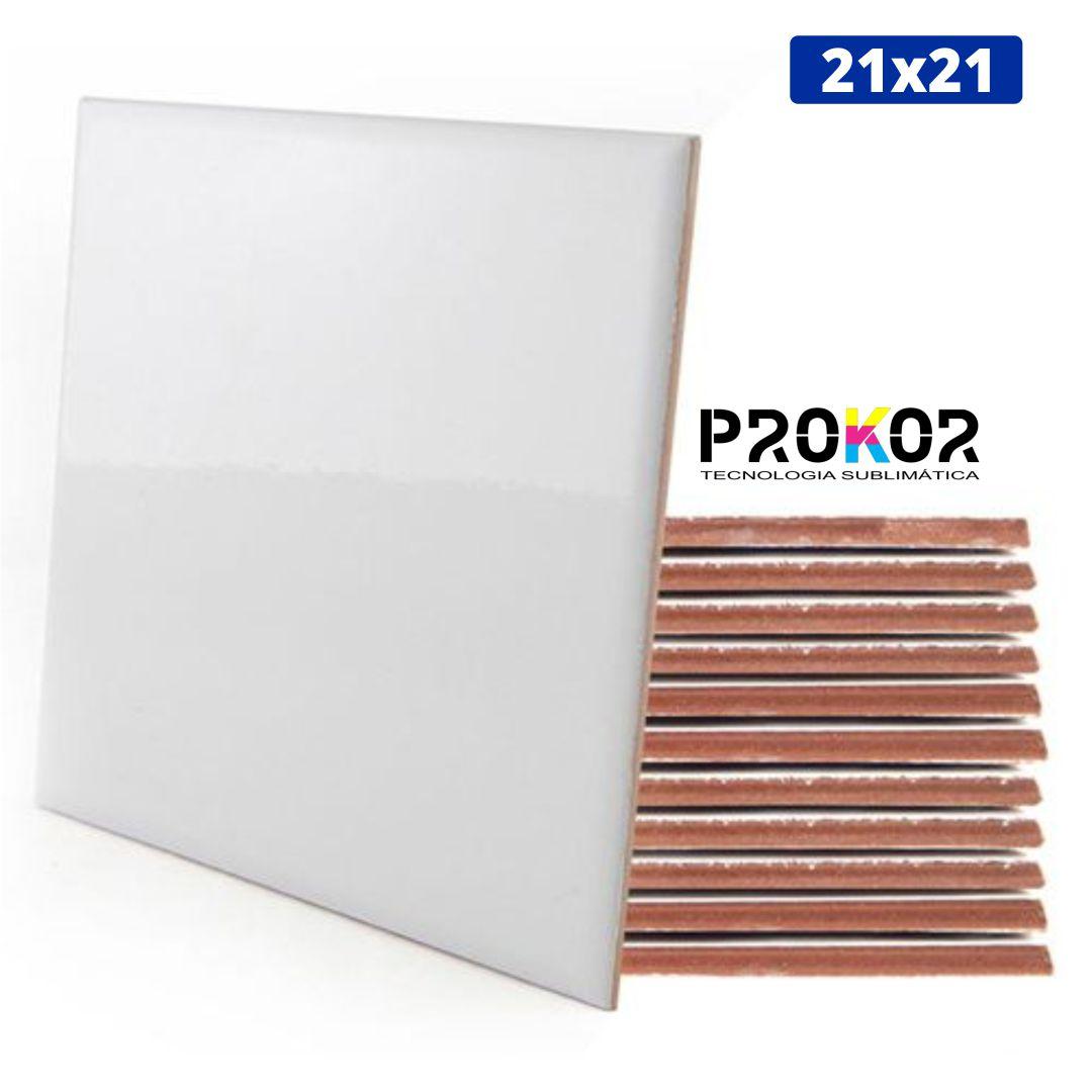 Azulejo Para Sublimação - 21x21cm - Prokor