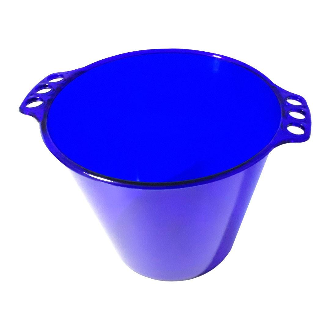 Balde de Gelo de Acrílico - Azul Neon Translúcido - 5L