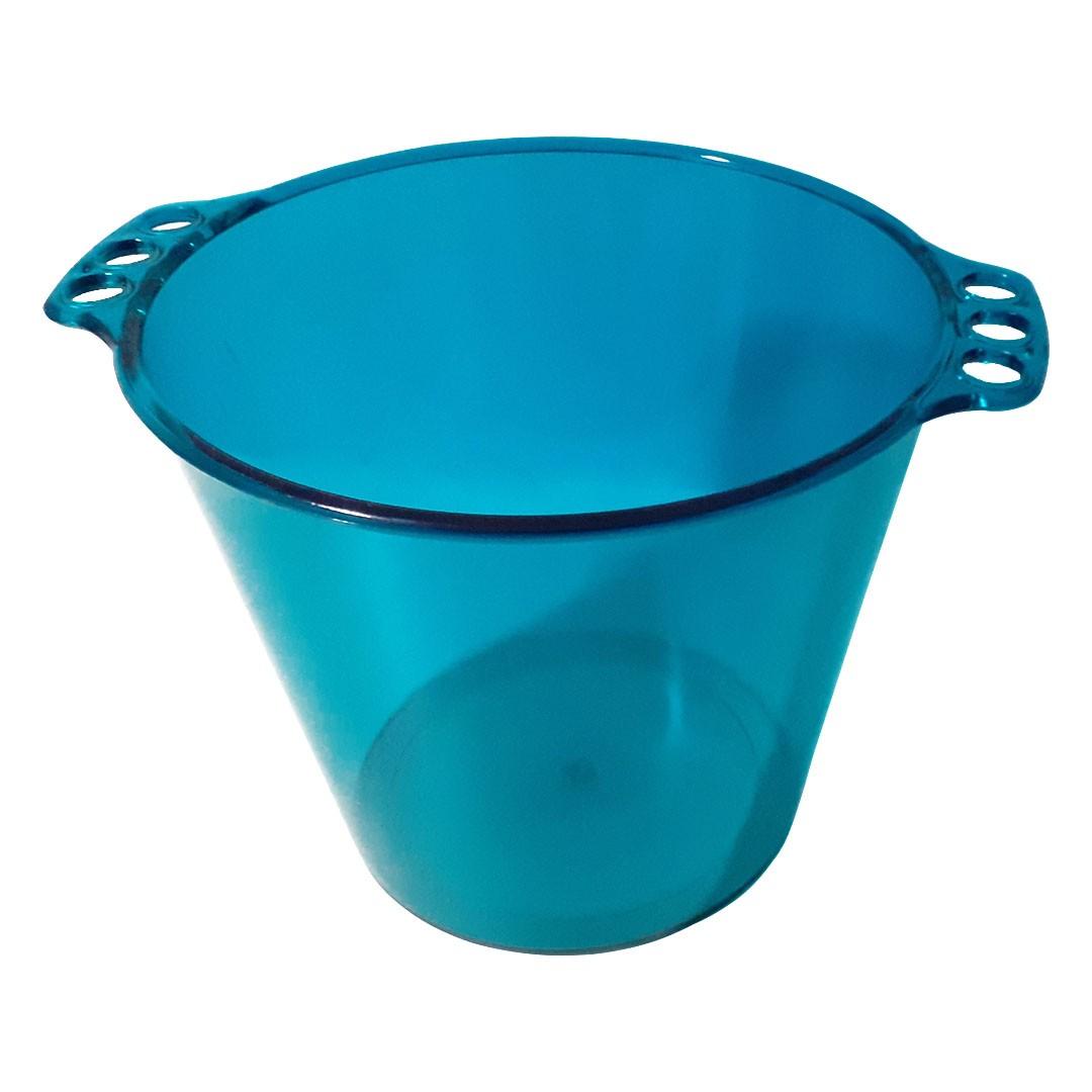 Balde de Gelo de Acrílico - Azul Tiffany Translúcido - 5L