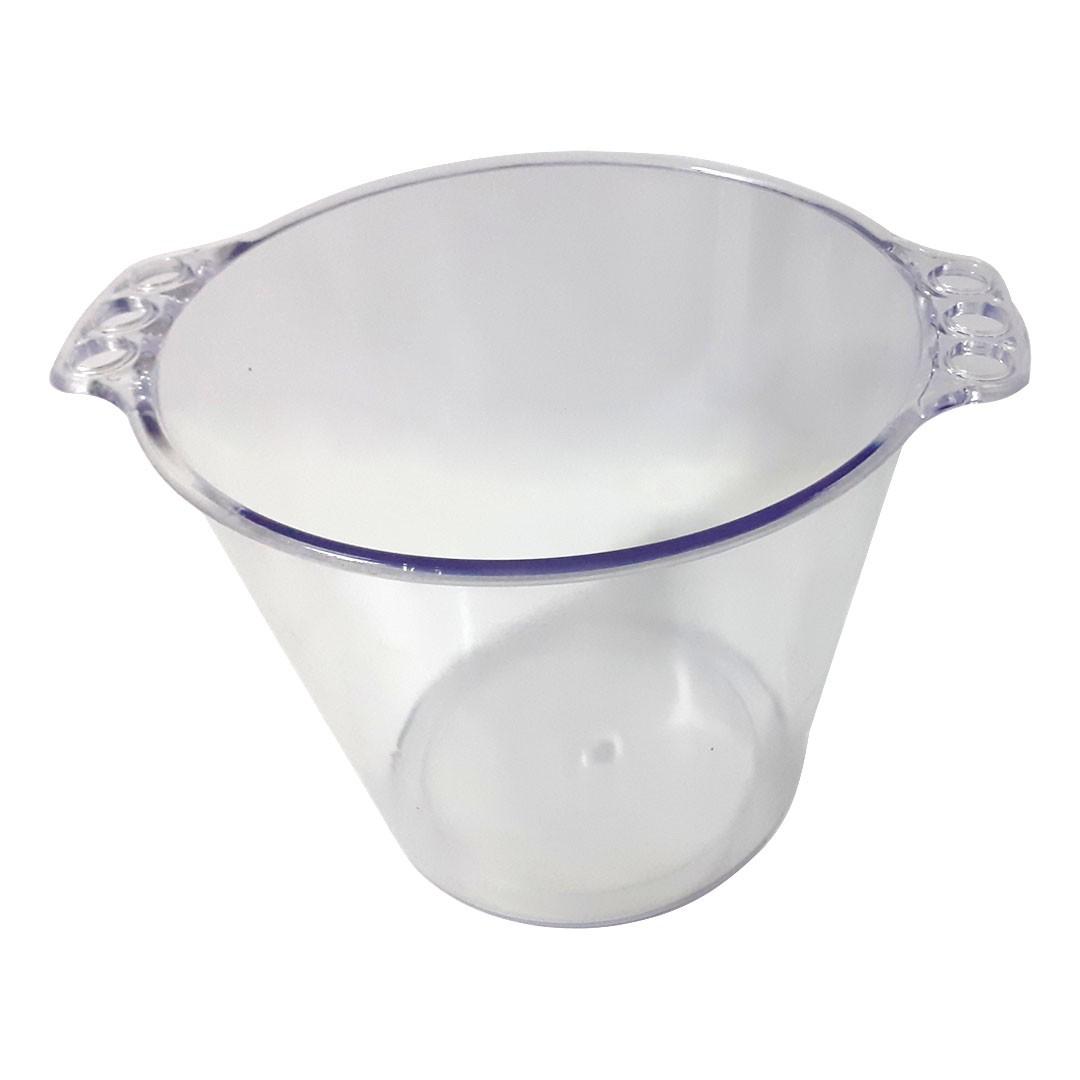 Balde de Gelo de Acrílico Cristal Translúcido - 5L