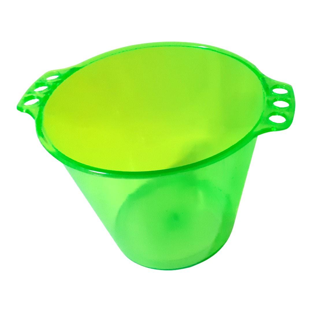Balde de Gelo de Acrílico Verde Neon Translúcido - 5L