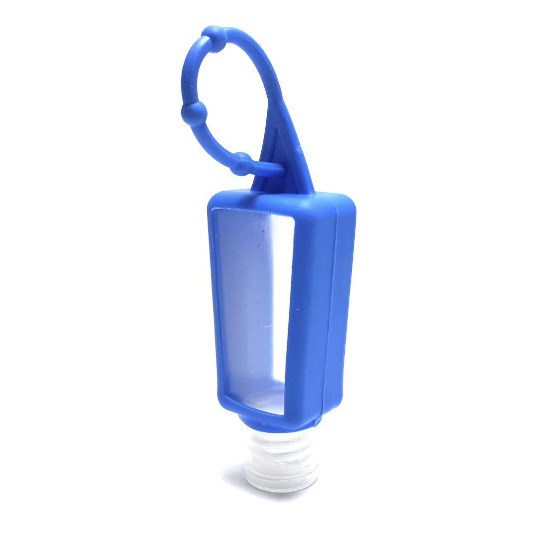 Bisnaga P/ Álcool em Gel com Capinha de Silicone - Azul Claro - 30ml