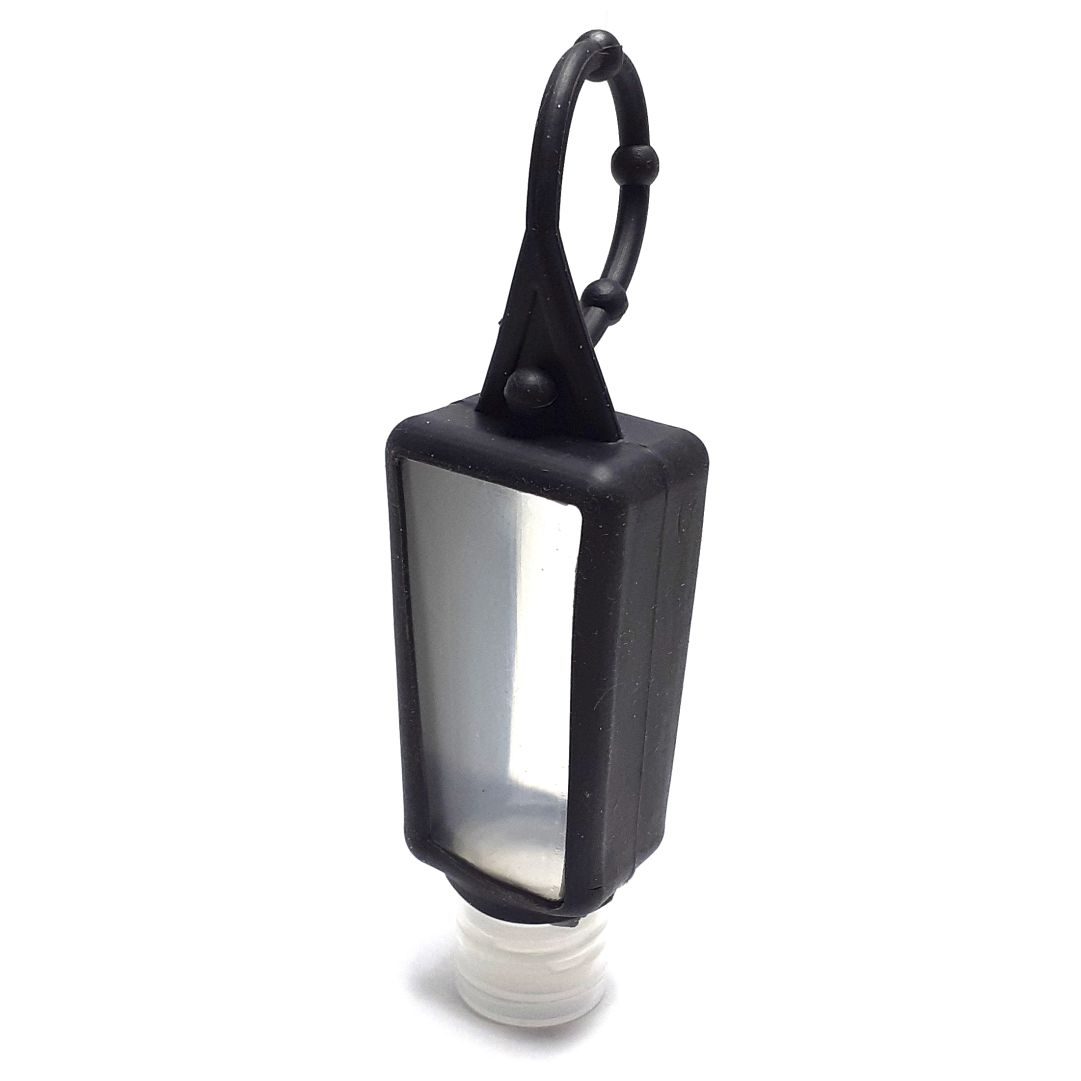 Bisnaga P/ Álcool em Gel com Capinha de Silicone - Preta - 30ml