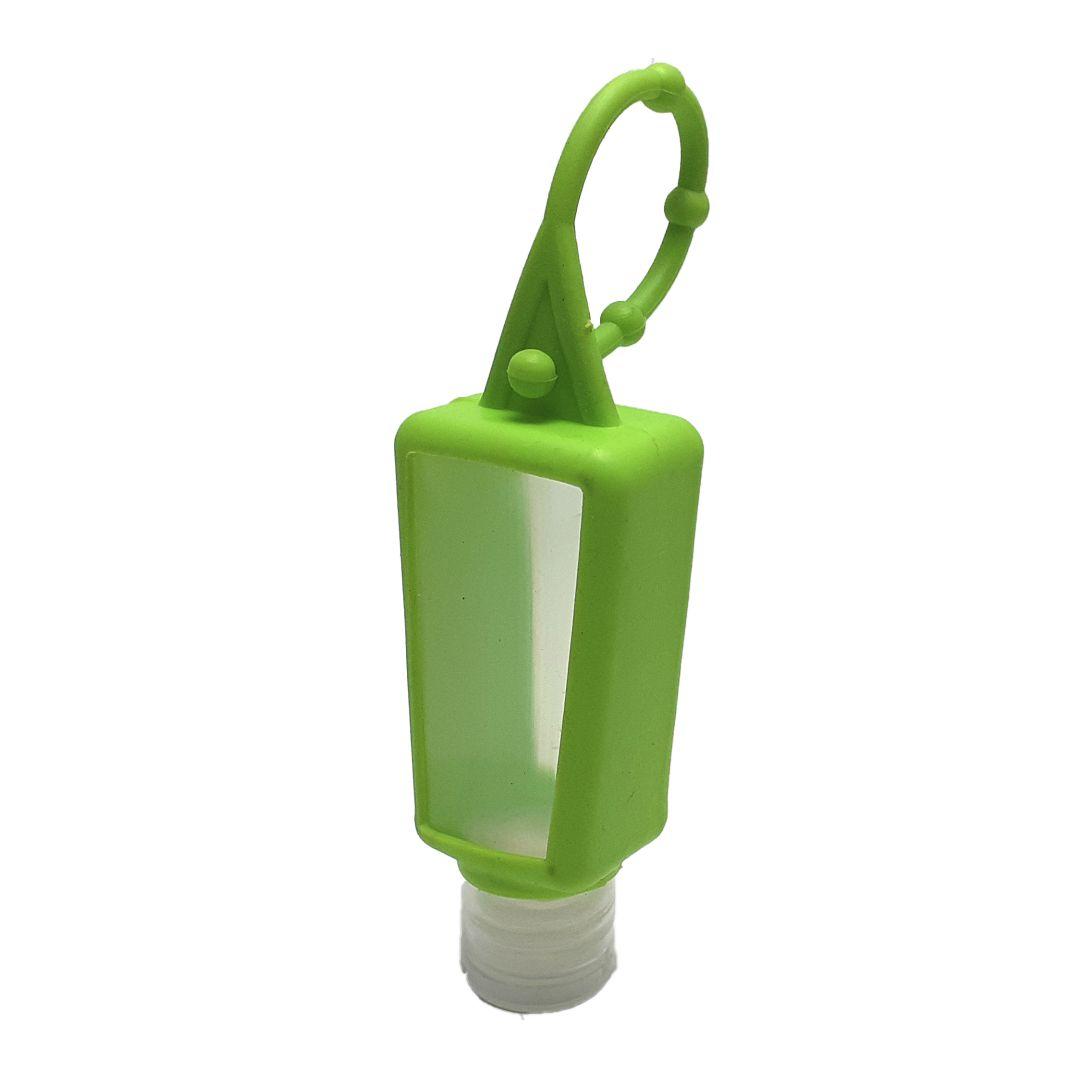 Bisnaga P/ Álcool em Gel com Capinha de Silicone - Verde Limão - 30ml