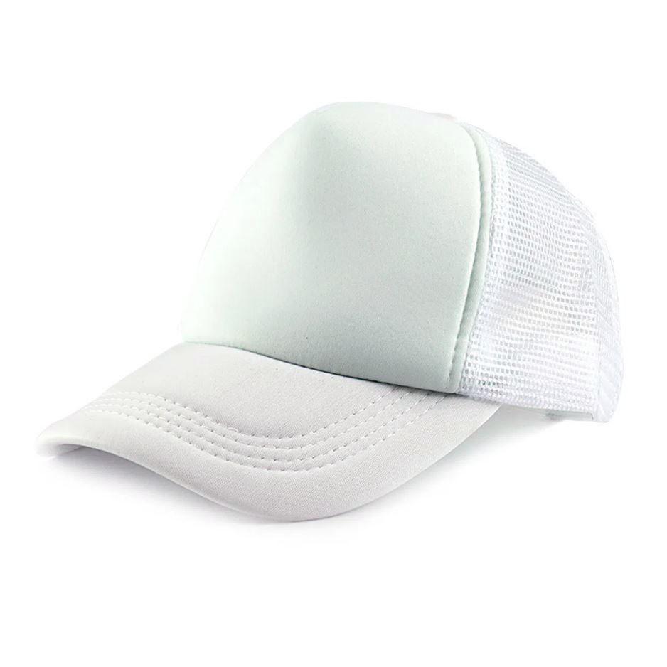 Boné de Tela Branco com a Frente Branca Para Sublimação