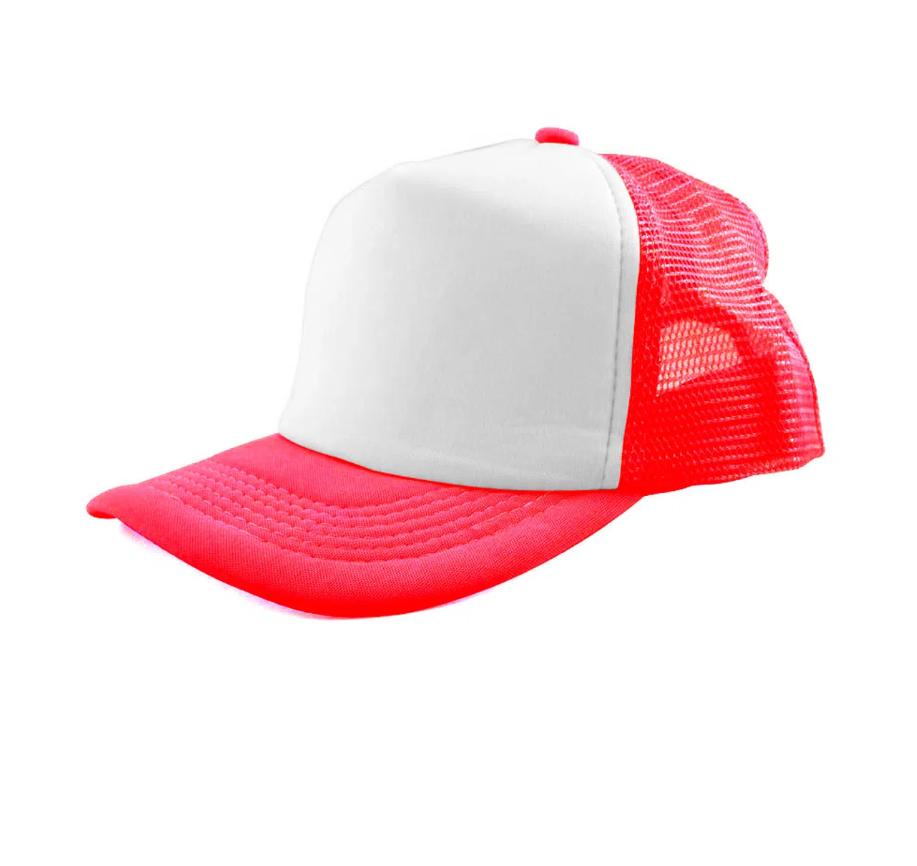 Boné de Tela Vermelho com a Frente Branca Para Sublimação