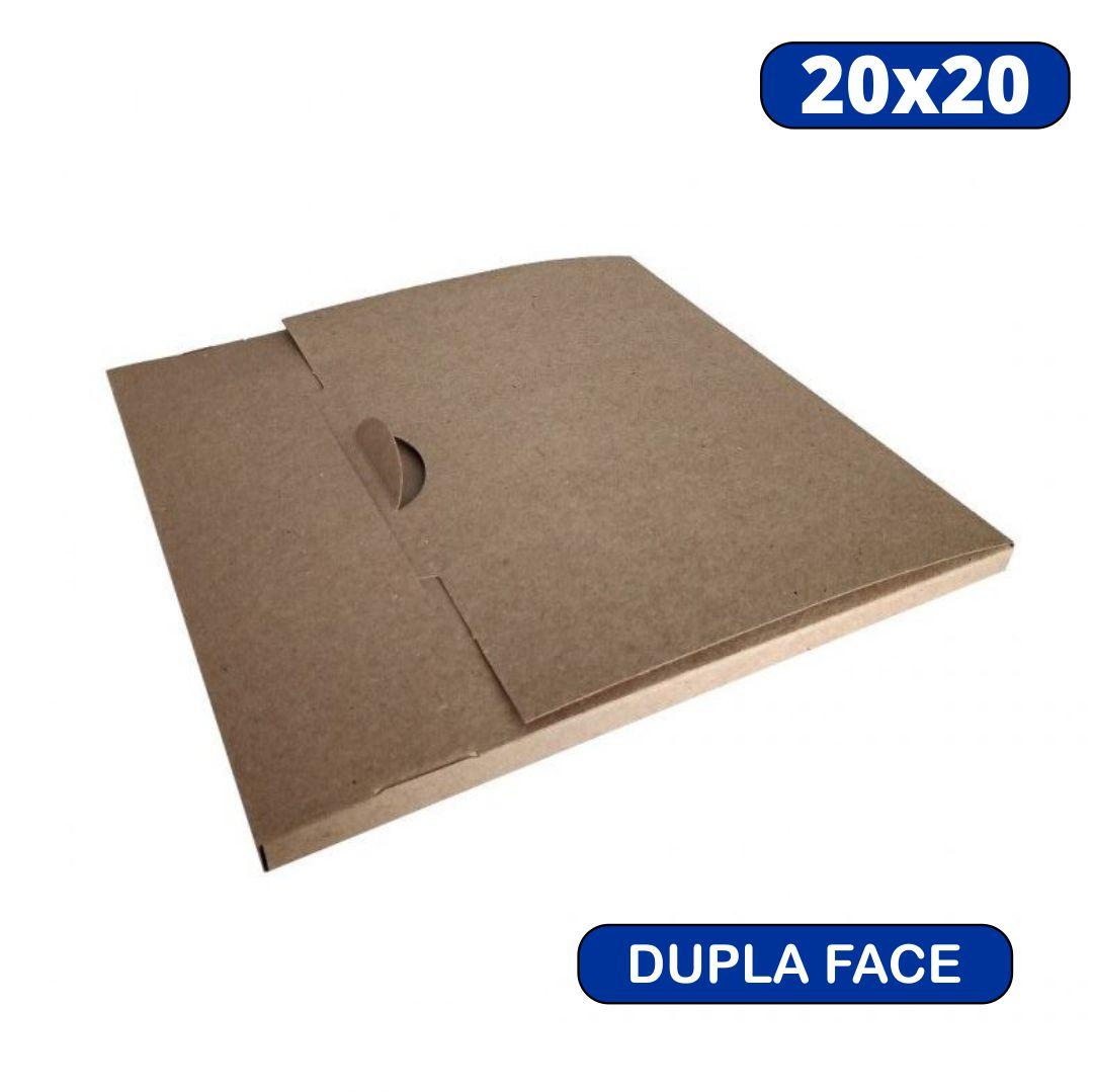 Caixa Para Azulejo Dupla Face - Kraft/Branco - 20x20 - Papelão
