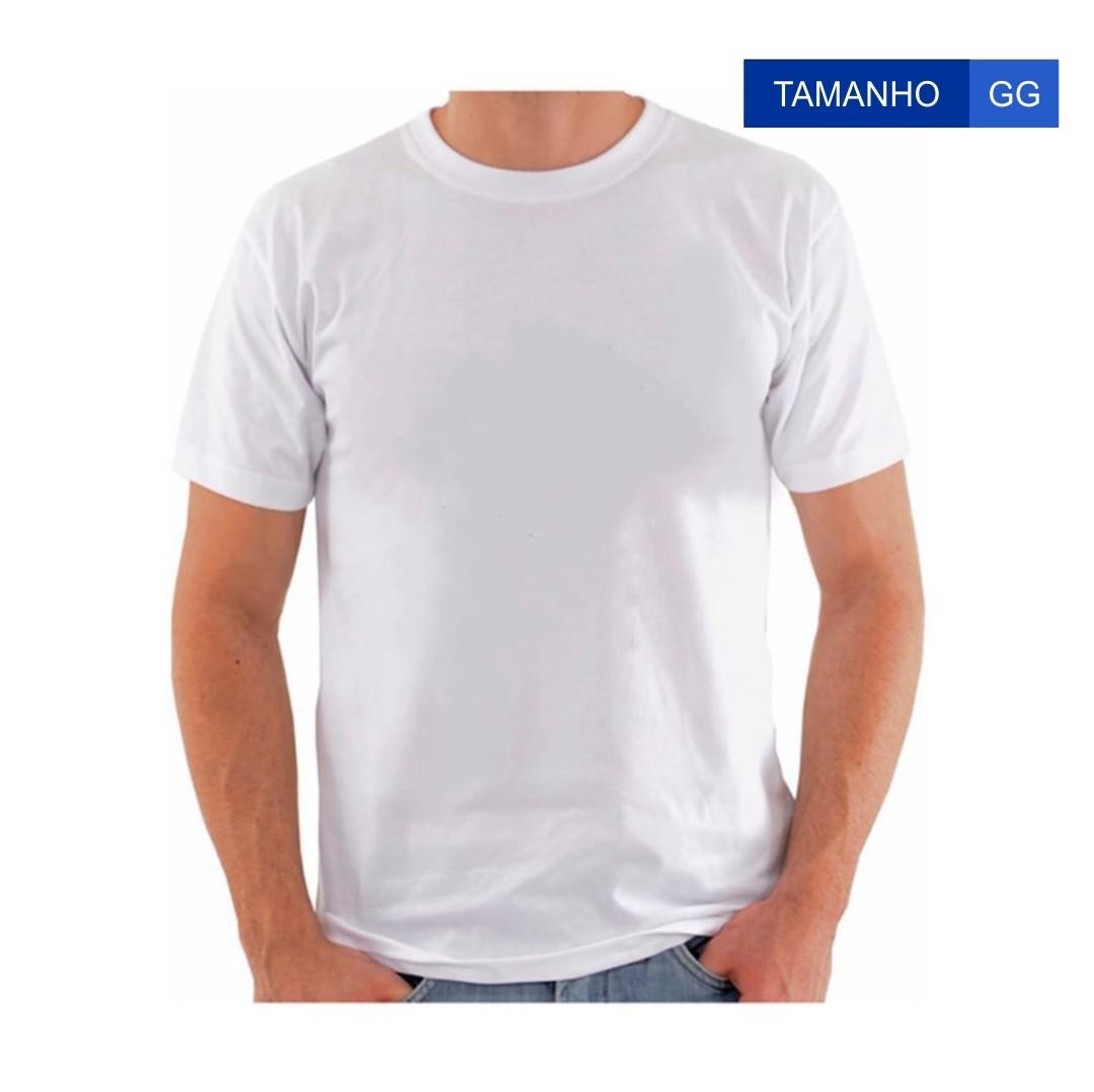 Camiseta Para Sublimação - Tamanho GG - Branca