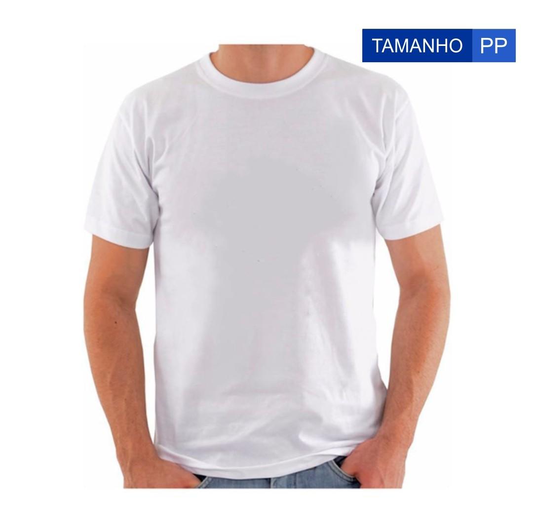 Camiseta Para Sublimação - Tamanho PP - Branca
