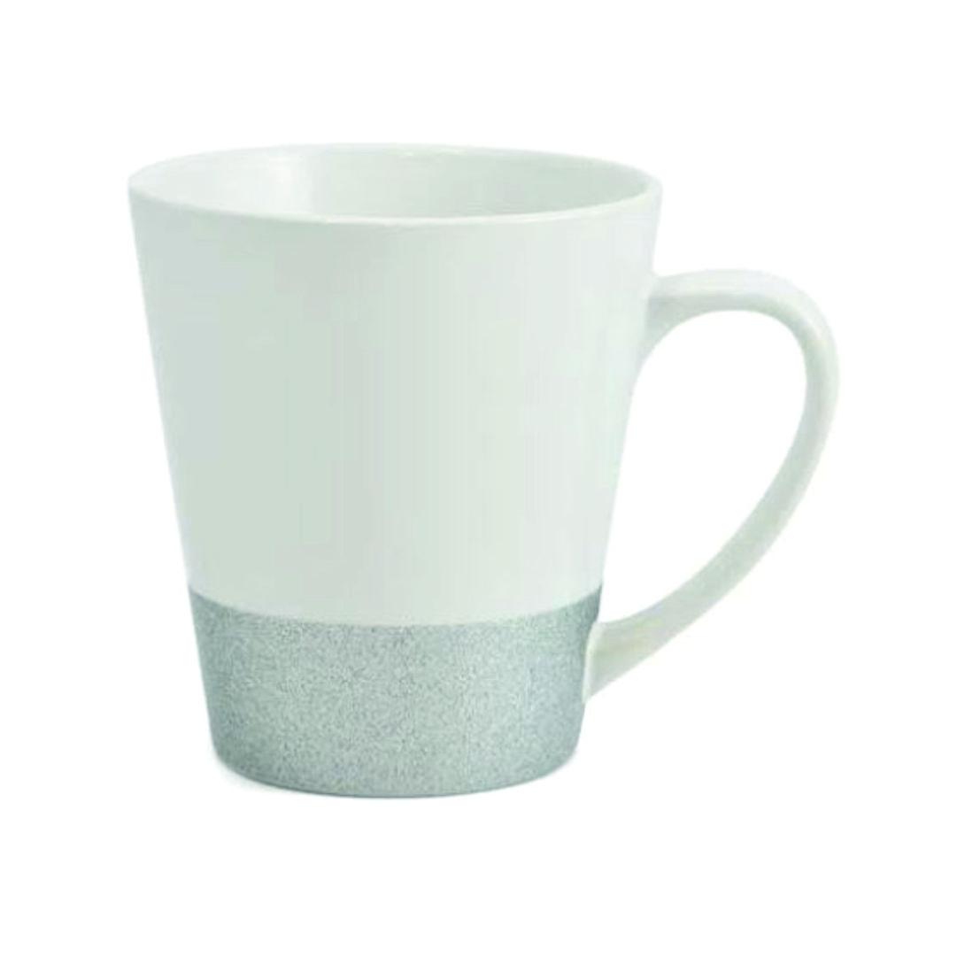 Caneca Cônica de Cerâmica para Sublimação com Base Glitter Prata - 355ml - LiVE SUB