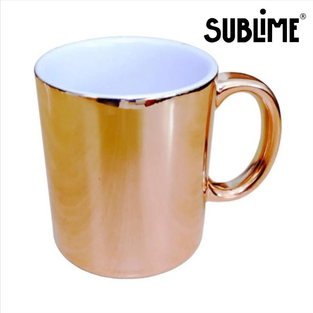 Caneca Cromada Para Sublimação - Bronze - 300ml - Sublime