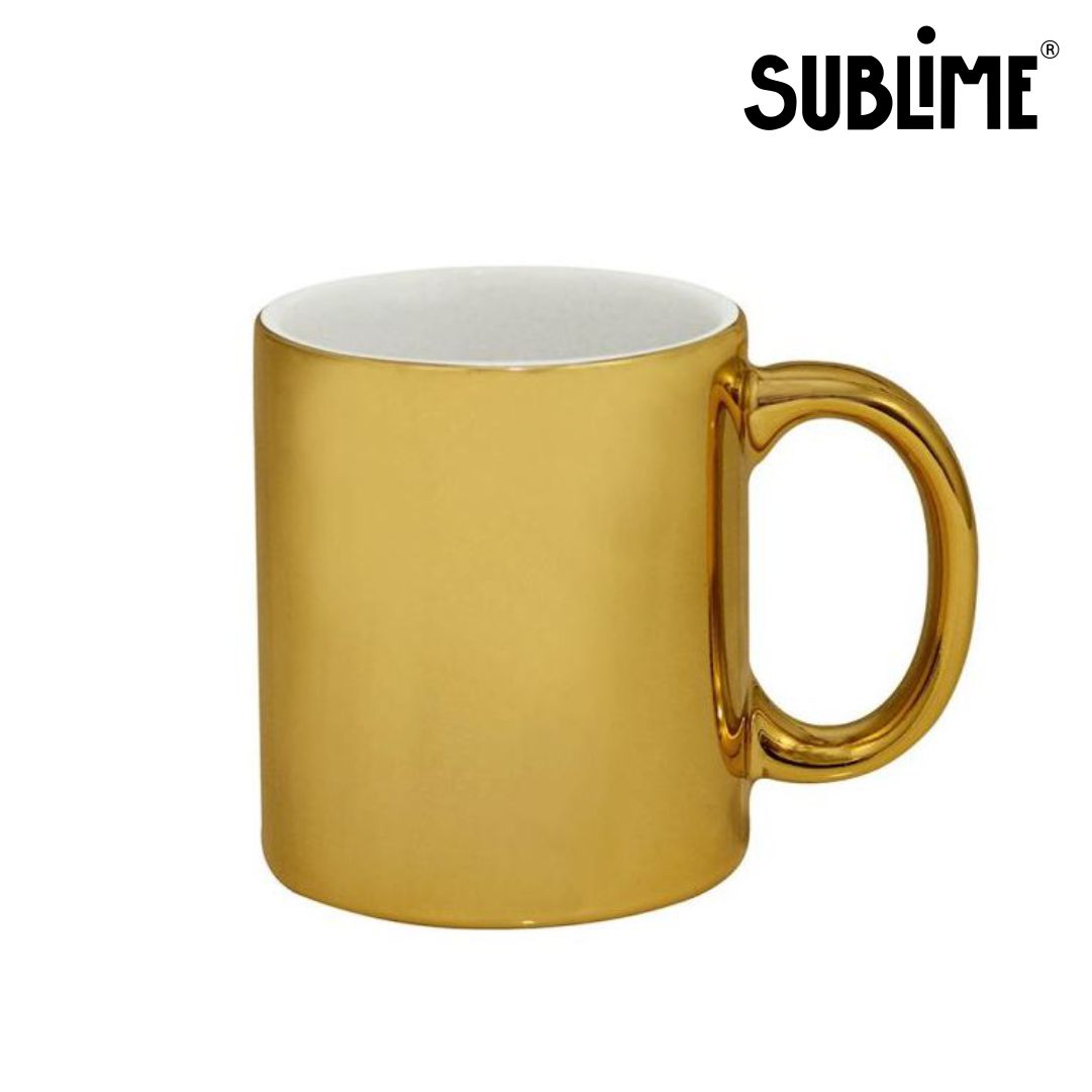 Caneca Cromada Para Sublimação - Dourada - 300ml - Sublime