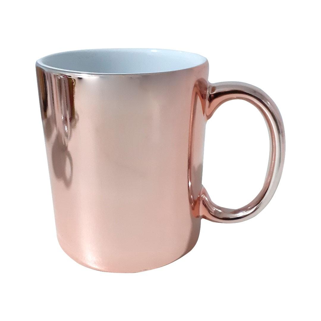 Caneca Cromada Para Sublimação - Rosé - 325ml - Sublime