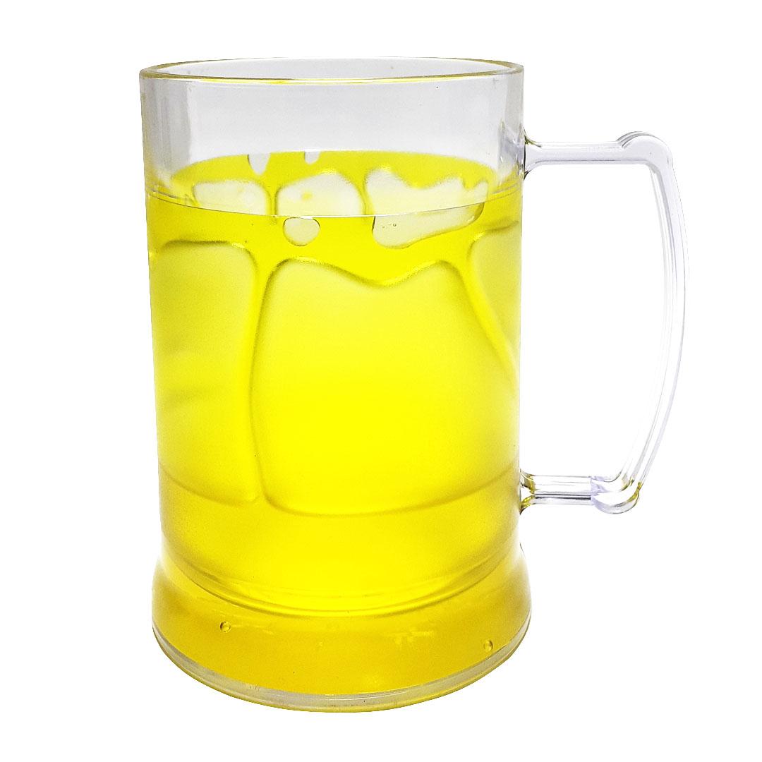 Caneca de Acrilíco c/ Gel Amarelo - 300ml