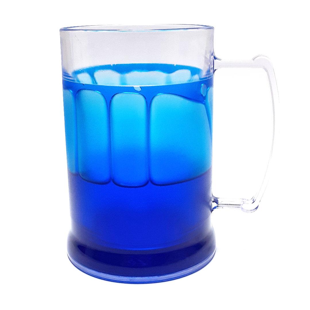 Caneca de Acrilíco c/ Gel Azul - 300ml